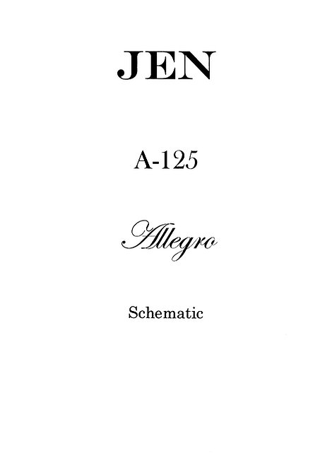 A-125 Allegro Schematics