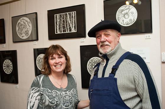 Patrick and artist Patti Braun