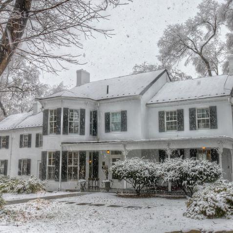 Historic Estate In Winter