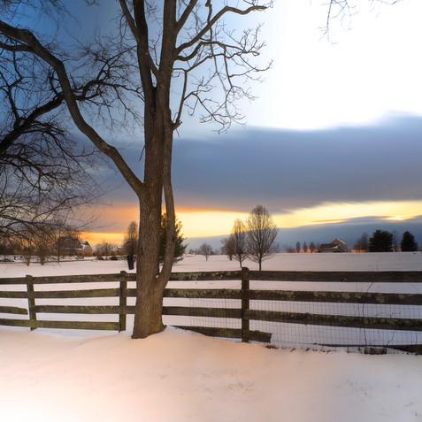 Snow Fall Long Exposure
