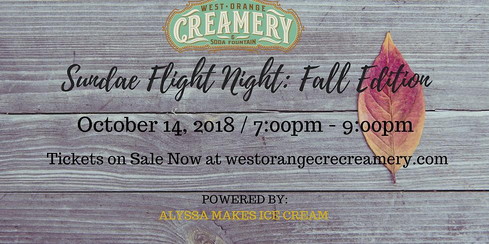 Sundae Flight Night - Fall Edition