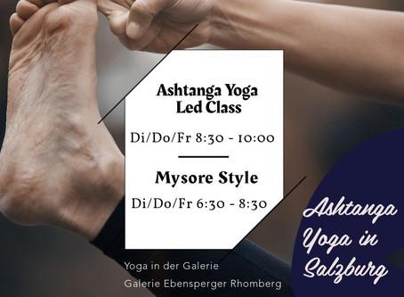 Ashtanga Yoga im traditionellen Mysore Style & geführte Einheiten in kleinen Gruppen in Salzburg