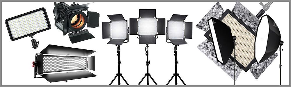 Tipi di luci per videoclip