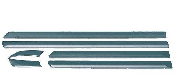 Молдинги ВАЗ 2114 нового образца (узкие) в цвет