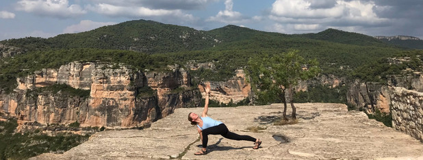 Yoga with Ieva Luna in Siurana