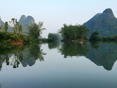 Rock climbing in Yangshuo