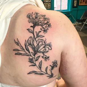 Custom Honeysuckles and Sage Leaves