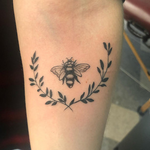 Bee and Leaves
