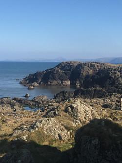 Rocky shoreline at Corsewall