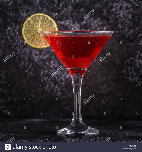 glass-of-cosmopolitan-cocktail-decorated