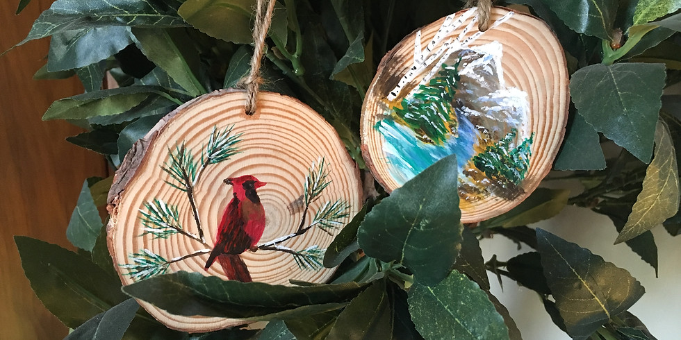 Homemade Holiday Wooden Ornaments