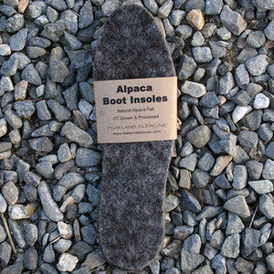 Alpaca felt insoles (assorted sizes)