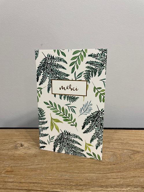Carte feuilles