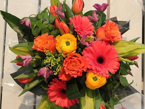 Bouquet rond choix du fleuriste