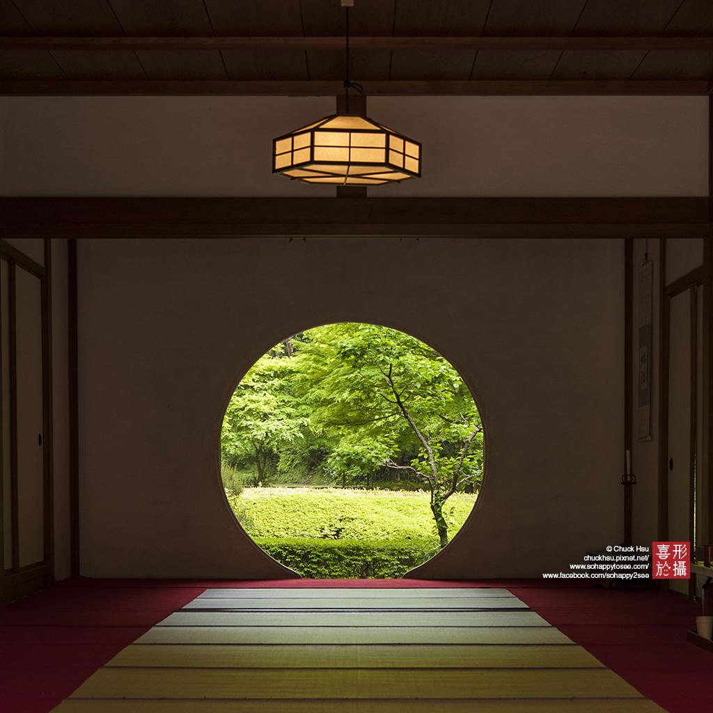 青翠碧綠的明月院圓窗 鐮倉-明月院 (KAMAKURA, JAPAN)