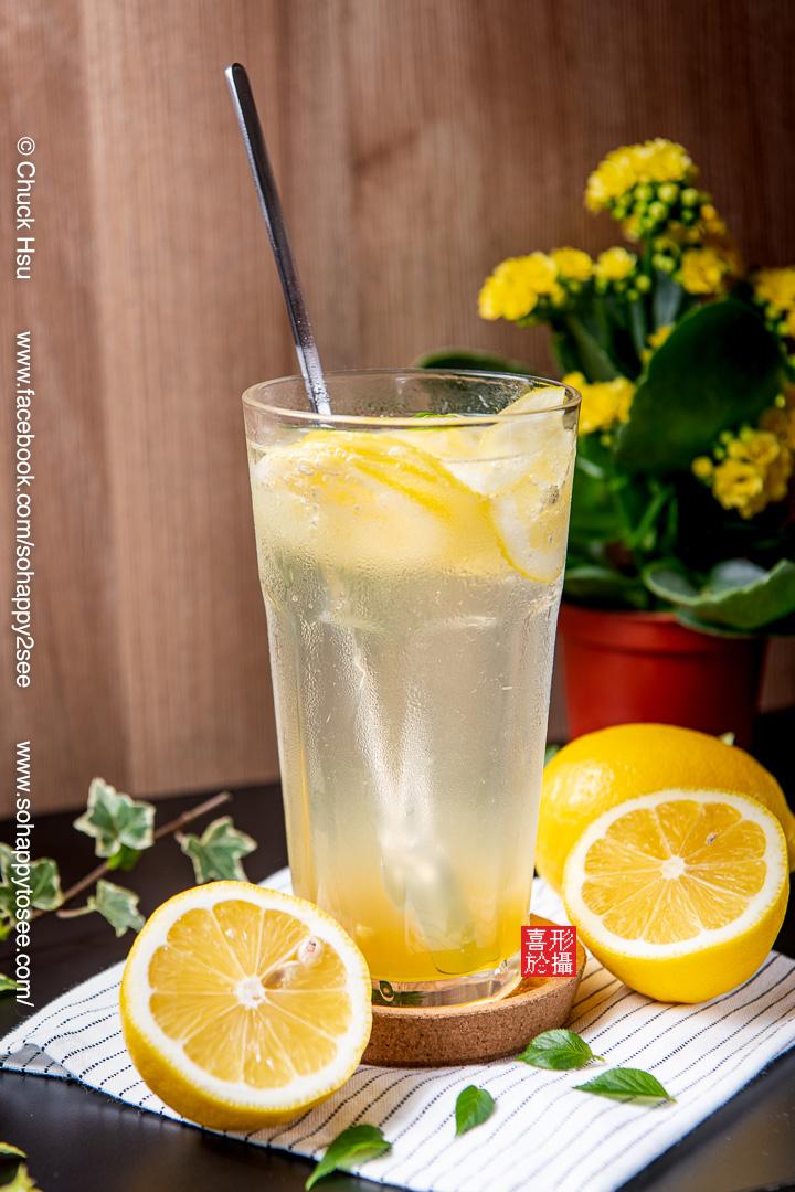 蜂蜜黃檸檬氣泡飲(咖在有哩)美食攝影
