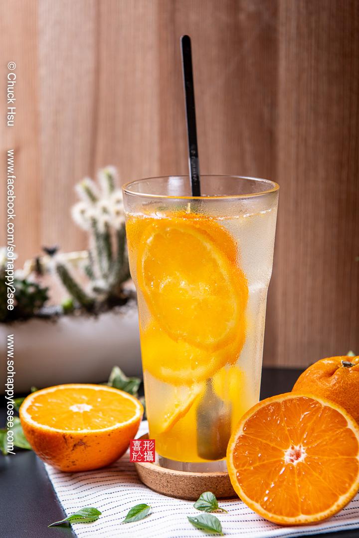 蜂蜜柳橙氣泡飲(咖在有哩)美食攝影