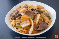 泡菜牛肉炒烏龍麵