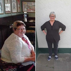 Donna has lost 18kgs and is looking fantastic!