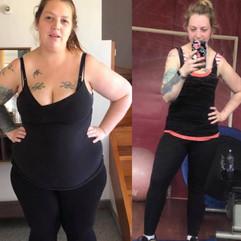 Ayla has lost 45 kilos!