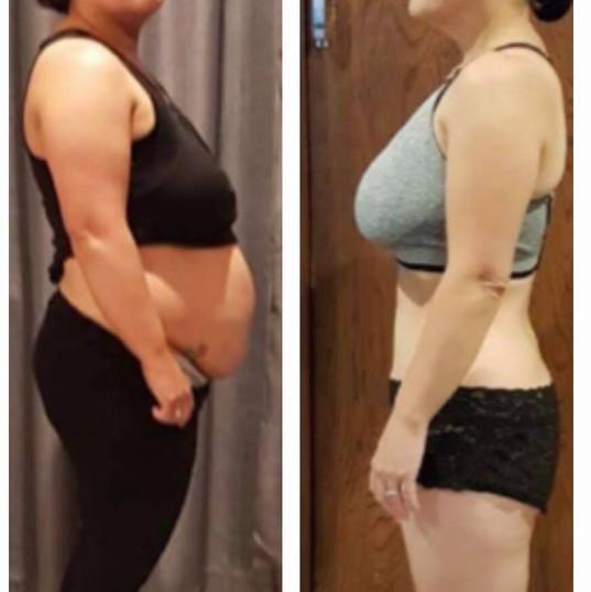 Tania has lost 17.5kgs