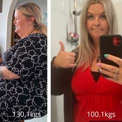 Brooke is 30kgs down!