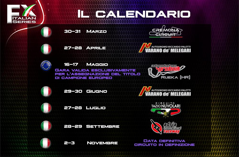 calendario formula x italian series formula predator's predator's challenge 2019
