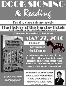 J.M. Moore: Book Signing & Reading Event