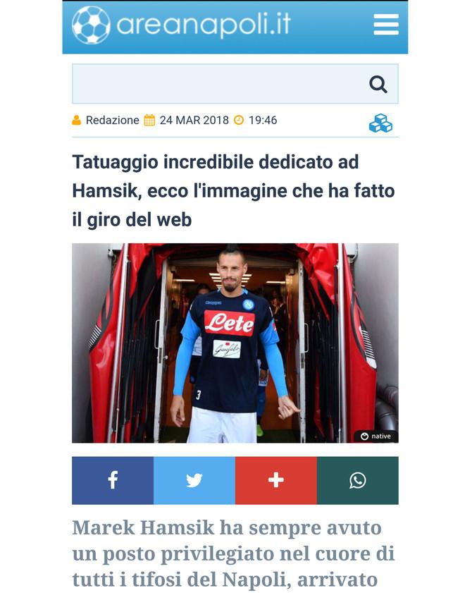 "Marek Hamsik: ""Idolo azzurro a Dubai"""