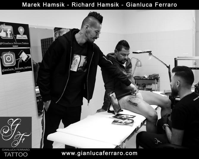Marek Hamsik - ritratto per  Richard   Hamsik, un tatuaggio speciale.