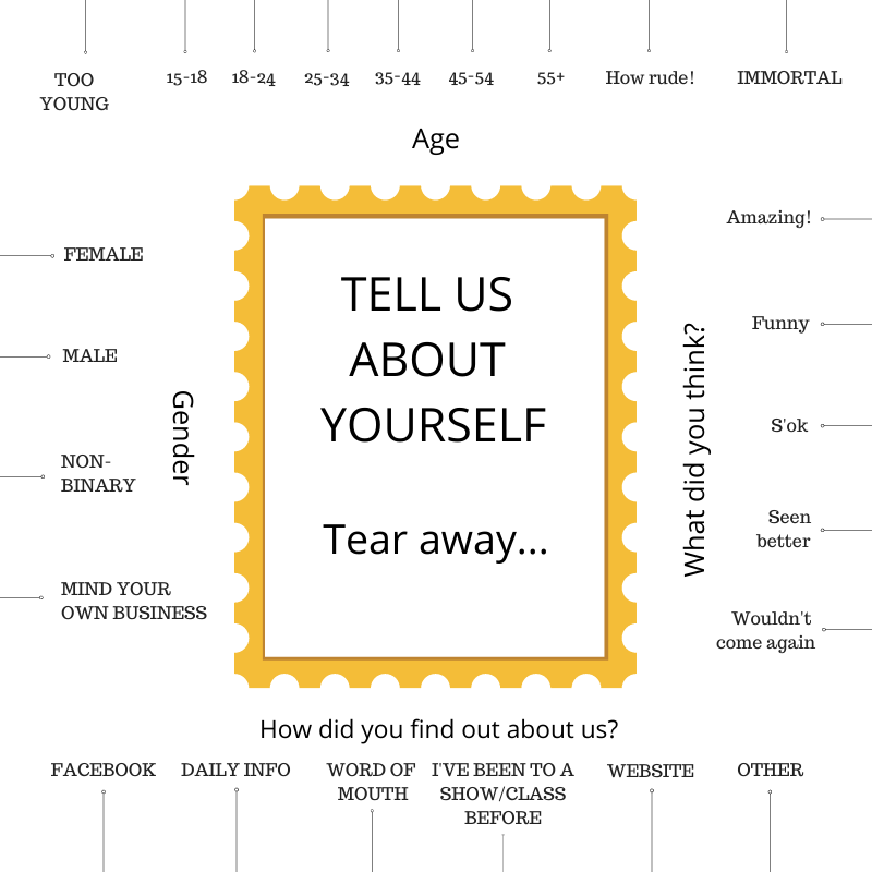 Tear-away Feedback Form