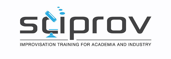 Logo of Sciprov: improvisation training for academia and industry.