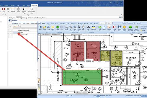 Sigma - PlanSwift Integration