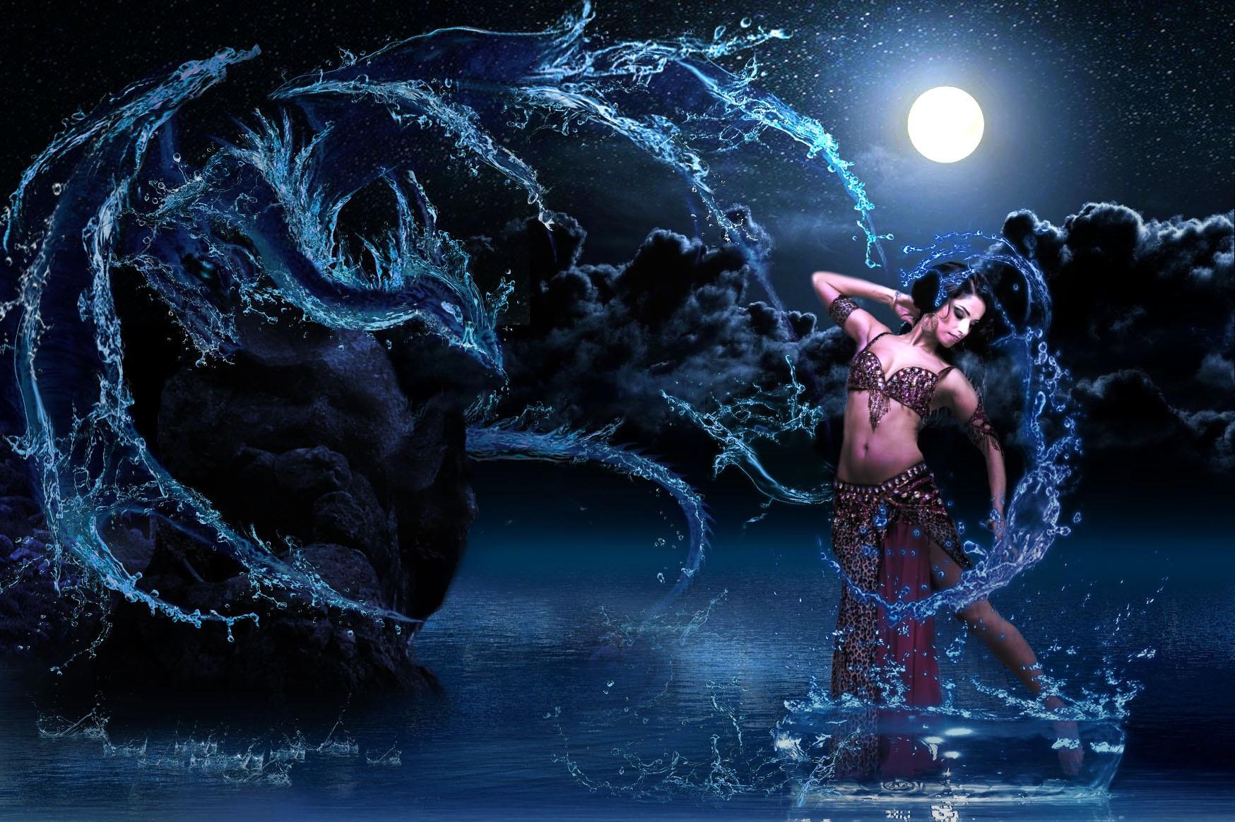 Summoning water dragon