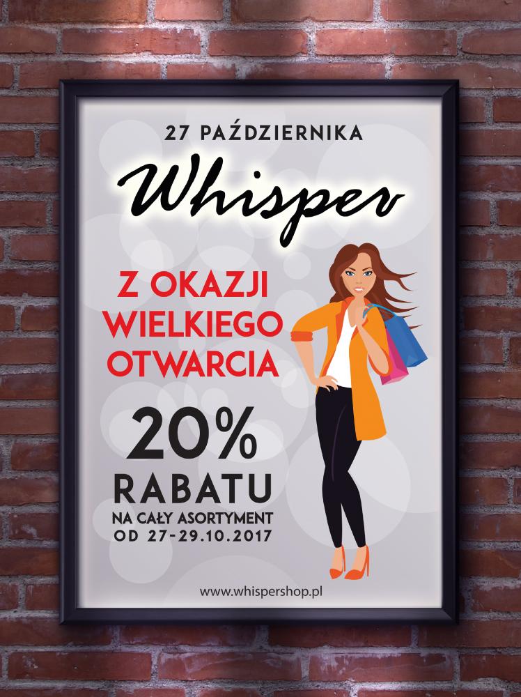 poster - grand opening Whisper