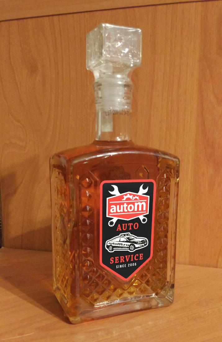 bottle label - autoM