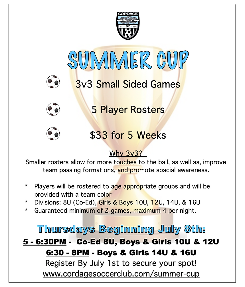 Cordage SC Summer Cup