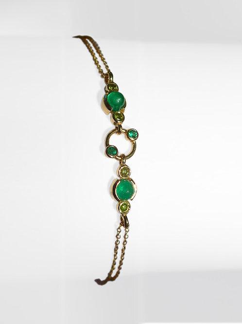 14k Yellow Gold Emerald & Yellow Diamonds