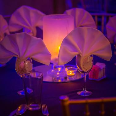 Midnight Blue table setting