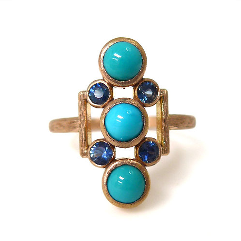 14k Sapphire & Turquoise