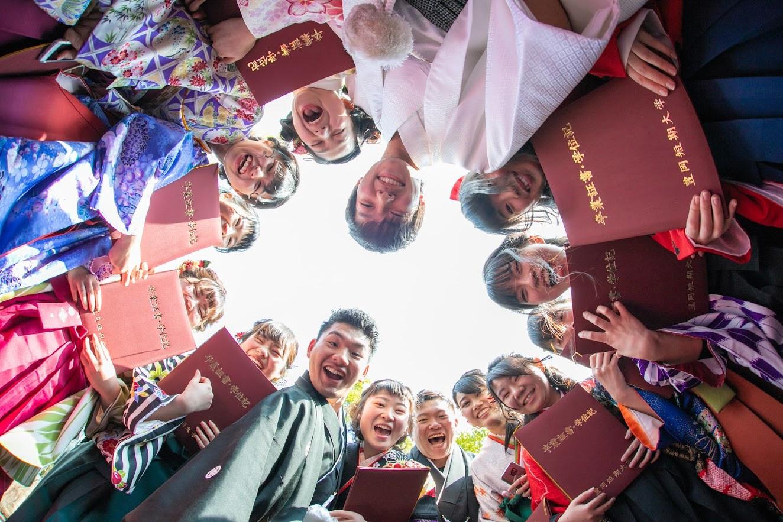 卒業式の記念撮影
