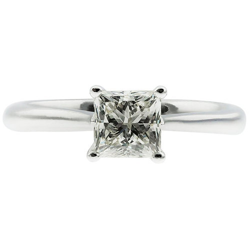 GIA Certified 0.92 Carat J VS1 Princess Cut Diamond Single Stone/Solitaire Ring
