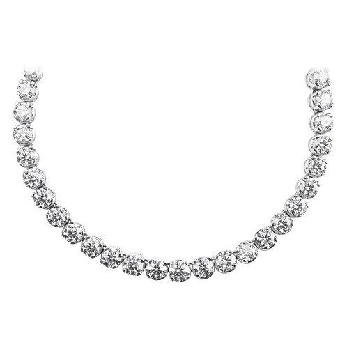 Graduated Rivière Diamond, Single Strand Eternity Necklace/Headpiece