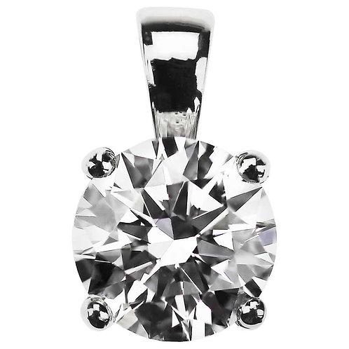 GIA Certified 2.01 Carat F VS1 Round Diamond Single Stone Solitaire Pendant