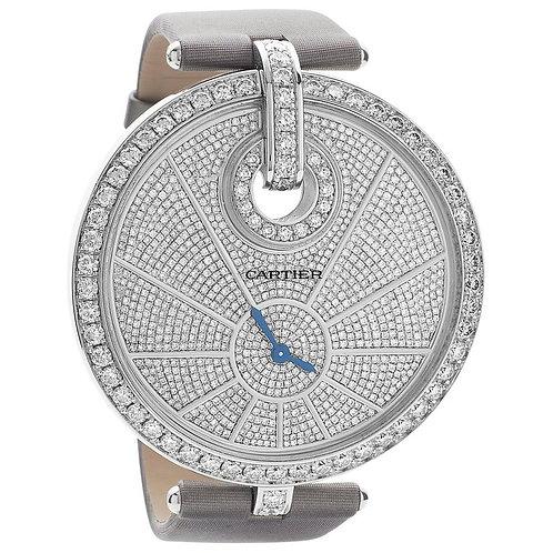 Captive de Cartier Watch White Gold Diamond, High Jewelry Extra Large