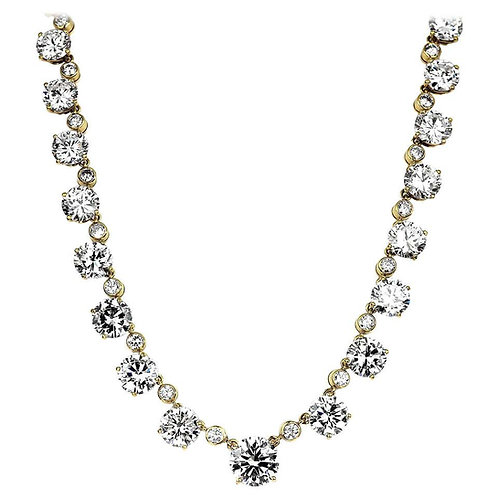 Asprey, GIA Certified Round Big Diamond Riviera Line Necklace/Headpiece/Tiara