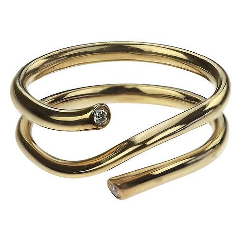 Georg Jensen Diamond Set Magic Ring in 18 Carat Yellow Gold