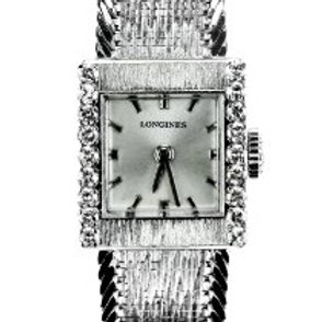 Longines Ladies Dress Watch with Diamonds in 18 Carat White Gold