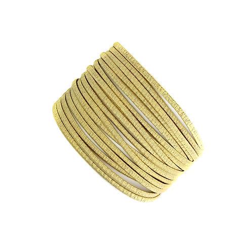 Marco Bicego, Cairo Seventeen Strand/Row 18 Carat Yellow Gold Woven Bracelet