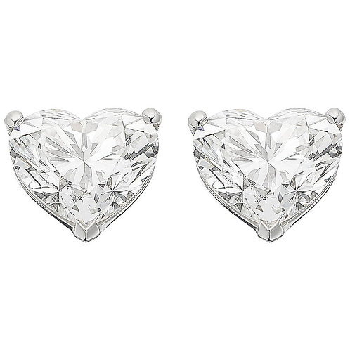 GIA Certified Diamond 2.01 Carat Each GVS1 Solitaire Single Stone Heart Earrings